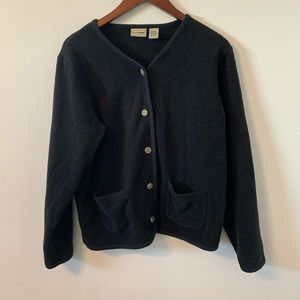 LL Bean Cardigan fleece Sweater size M